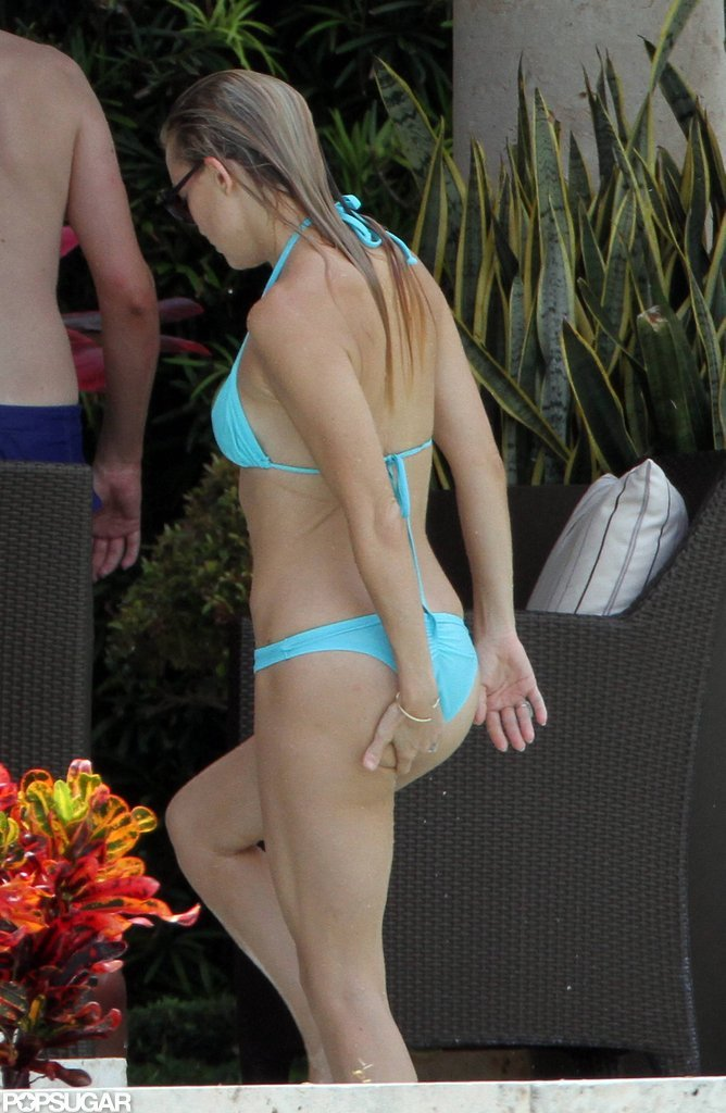 Kate Hudson Shows PDA Poolside in a Bikini With Shirtless Matt Bellamy
