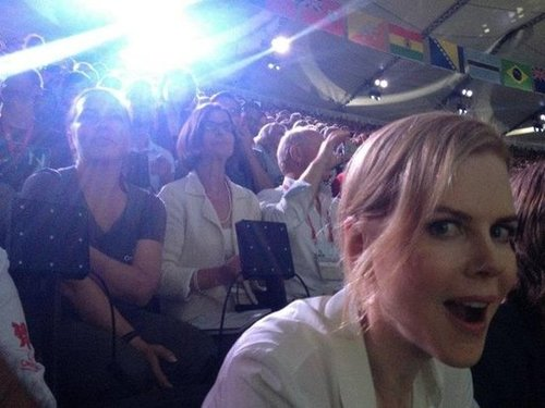 Nicole Kidman shared a photo of herself at Olympic Stadium in September.  Source: Facebook user Nicole Kidman
