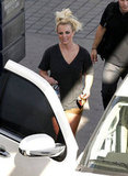 Britney Spears got into the car in LA.