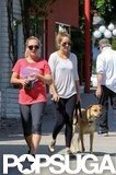 Lauren Conrad met up with friends and took her dog for a walk in LA.