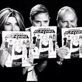 Nina Garcia, Heidi Klum and Michael Kors posed with copies of the Project Runway book. Source: Instagram user michaelkors