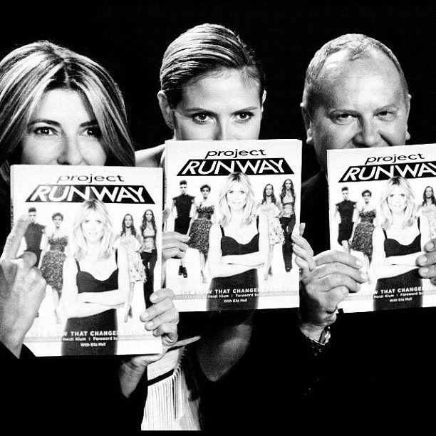Nina Garcia, Heidi Klum, and Michael Kors posed with copies of the Project Runway book. Source: Instagram user michaelkors