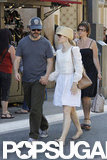 Rachel McAdams and Michael Sheen strolled through The Grove in LA.