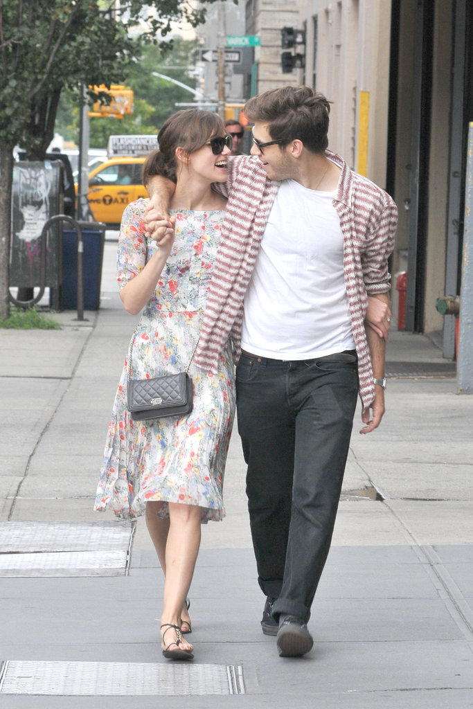 Keira Knightley and fiancé James Righton had a laugh together while in NYC.