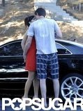 Zooey Deschanel kissed boyfriend Jamie Linden.