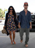 Matthew McConaughey and Camila Alves held hands at the airport.