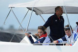 Kate Middleton watched Olympic sailing with Sir Timothy Laurence.