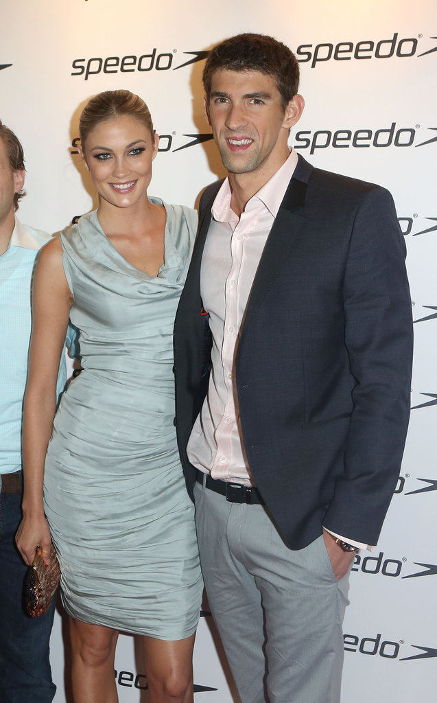 Michael Phelps and girlfriend Megan Rossee posed together on the red carpet in August for the Speedo Athlete Celebration at Kensington Roof Gardens.