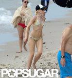 Gwen Stefani wore a bikini.