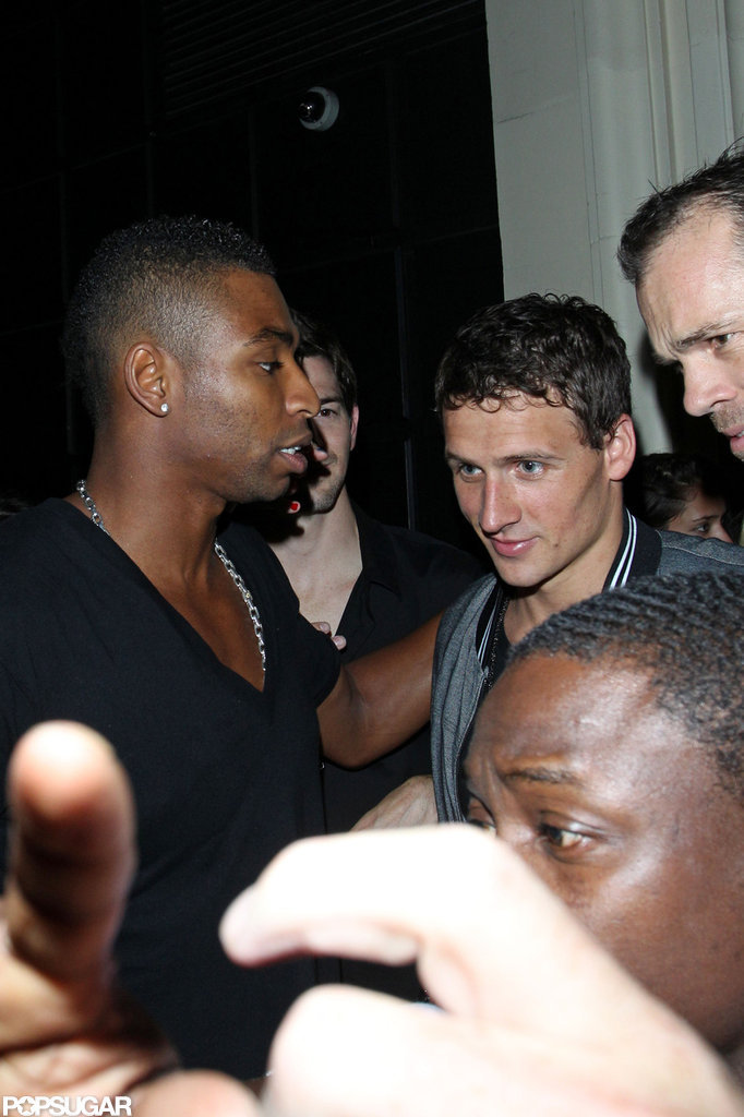 Ryan Lochte left a nightclub in London after a night of celebrating.