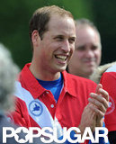 Prince William applauded at the polo match.
