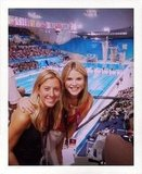 Jenna Bush Hager watched Olympic swimming.  Source: Twitter user JennaBushHager