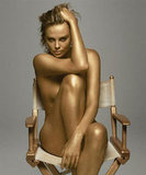 Charlize Theron went for the gold while posing nude for Dior's J'adore fragrance in September 2011.