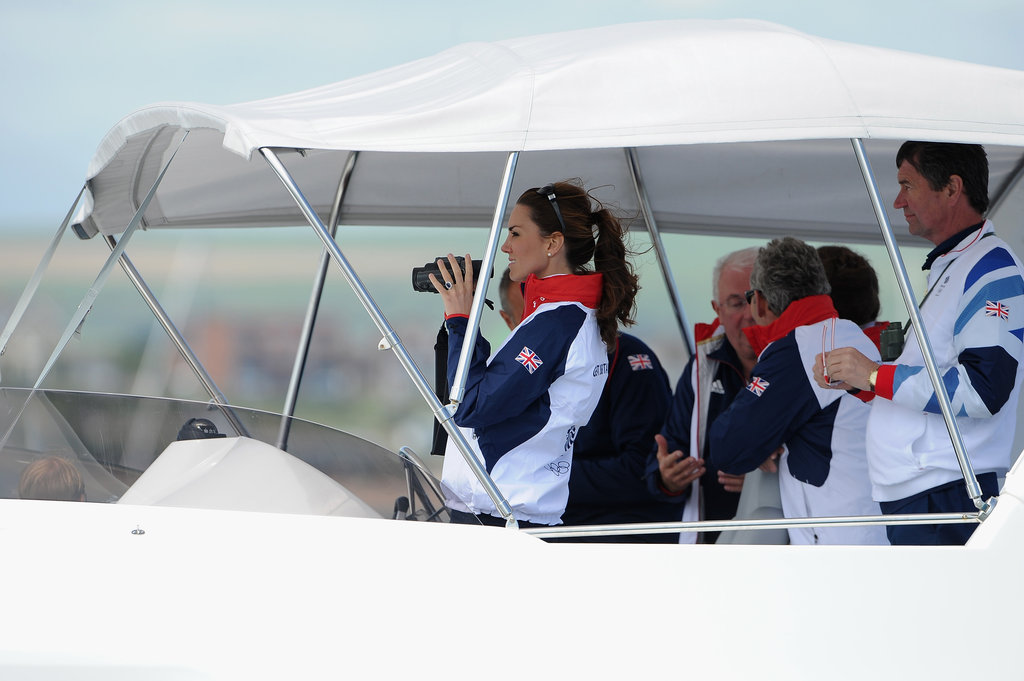 Kate Middleton ventured to Weymouth, England, to watch Olympic sailing.