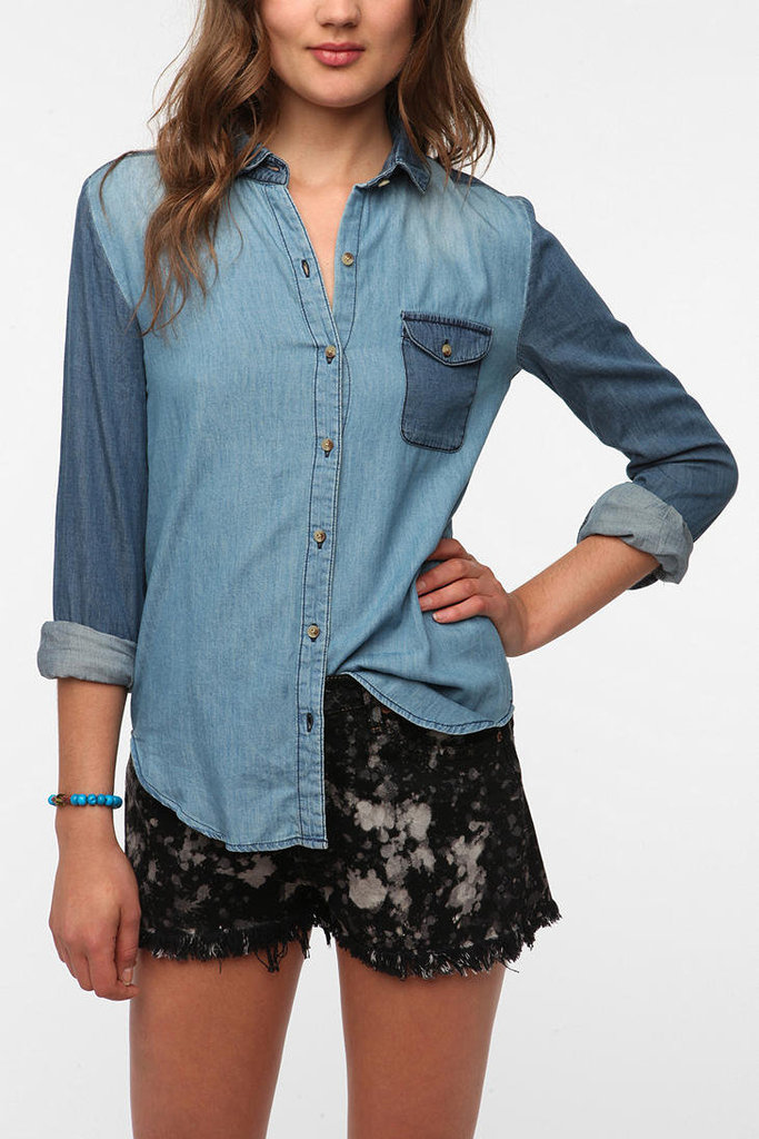 This  patchwork chambray shirt by BDG ($59) is a great update to a closet staple. Its colorblocking detail keeps it trendy, while its color palette makes it super easy to pair with everything from shorts to skirts — to my personal favorite — a pair of dark jeans. How cool would that look?   — Robert Khederian, editorial intern