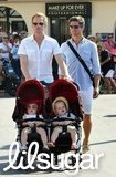 Neil Patrick Harris and David Burtka pushed Gideon Burtka-Harris and Harper Burtka-Harris in their stroller around St.-Tropez.