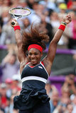 US tennis player Serena Williams didn't hold back after defeating Maria Sharapova to win the gold medal.