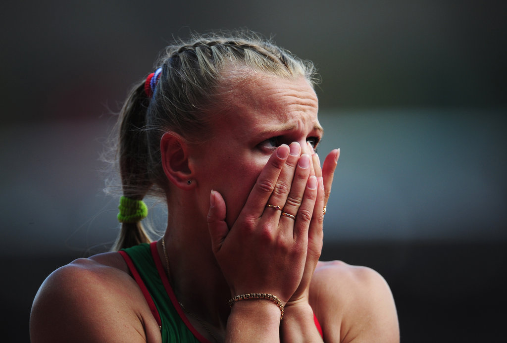 Australian hurdler Sally Pearson got emotional after winning her heat.