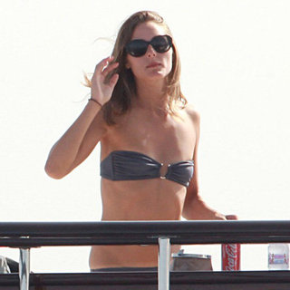 Olivia Palermo Wearing Gray Bandeau Bikini (Pictures and Shopping)
