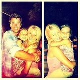 Julianne Hough posed with her Safe Haven costars Josh Duhamel and Mimi Kirkland. Source: Instagram user juleshough
