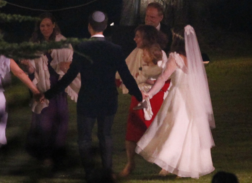Natalie Portman and Benjamin Millepied danced hand in hand at their wedding with baby Aleph in attendance.