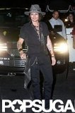 Johnny Depp smiled for fans outside of Aerosmith's afterparty in LA.