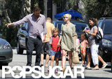 Michelle Williams and Jason Segel looked after Matilda together in LA.