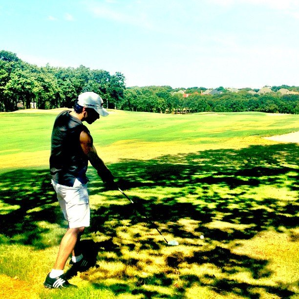 Joe Jonas practiced his swing. Source: Instagram user adamjosephj