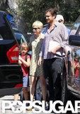 Michelle Williams and Jason Segel accompanied Matilda to gymnastics in LA.