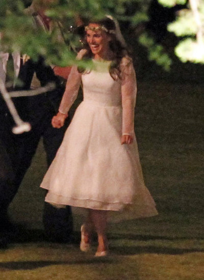 Natalie Portman wore a Rodarte dress for her wedding.