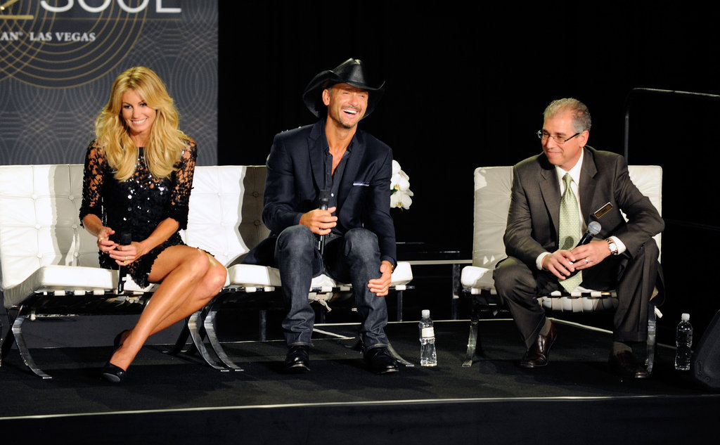 Faith Hill and Tim McGraw held a news conference at the Venetian Hotel in Las Vegas.