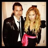 Rachel Zoe and Rodger Berman headed out for an '80s-themed night on the town. Source: Instagram user rachelzoe