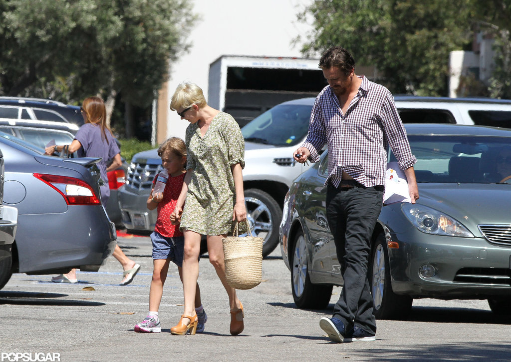 Michelle Williams held Matilda's hand and walked with Jason Segel in LA.