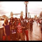 LaLa posed with her family in front of Tower Bridge.  Source: Instagram user LaLa