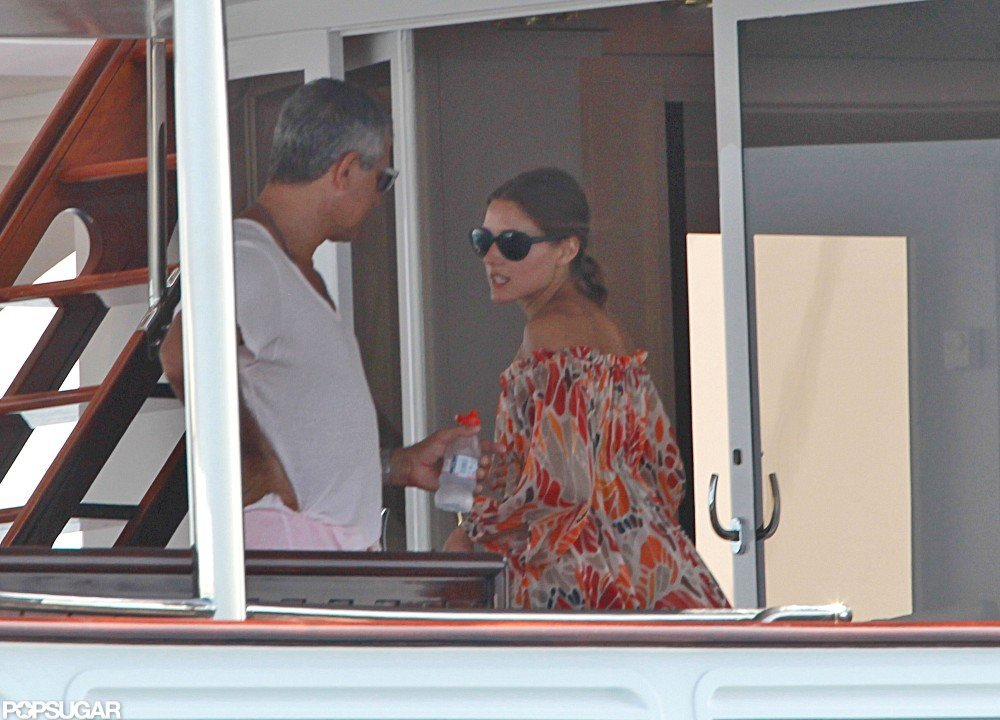 Olivia Palermo wore a patterned cover-up.
