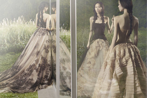 Vera Wang picks up where it left off with its mirrored campaign images.