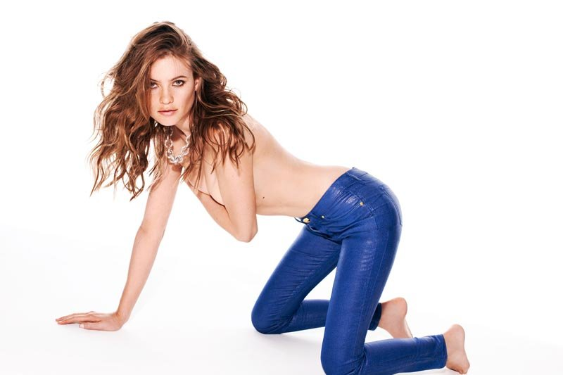 A coated blue jean? We're loving everything about this Juicy Couture jean.