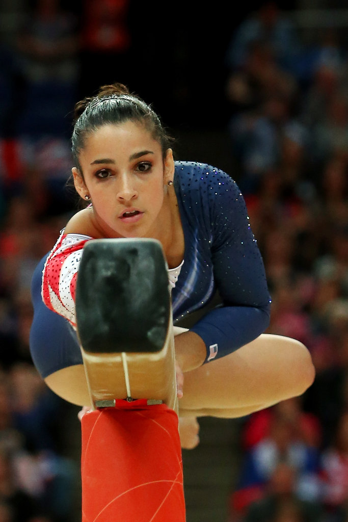 """I push myself and do the best that I can to finish and just have a good feeling at the end of the day. That's the most important — going to bed knowing I did everything that I could.""  — Aly Raisman on giving every day her all"