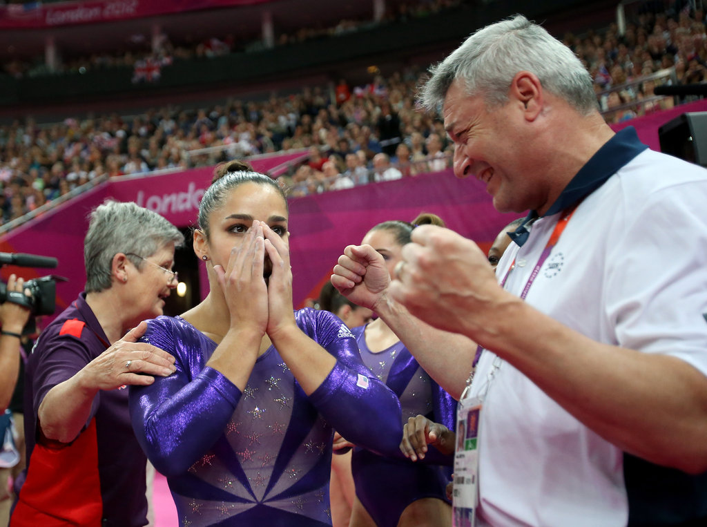 """I remember when he [coach Mihai Brestyan] said, 'Maybe you'll be down there some day.' And I knew I would be down there. But I didn't know it would be this special.""  — Aly Raisman on her selection for the Olympic team"