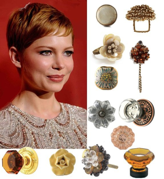 Antique Look and Feminine Drawer Pulls, Door Knobs