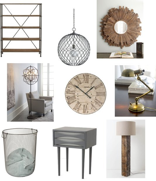 Industrial Bedroom Accents