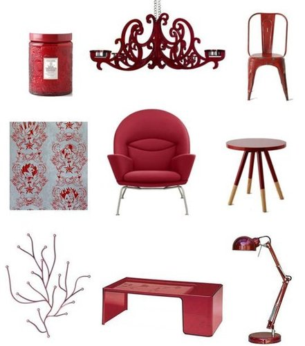 Ruby-Red Home Decor Shopping