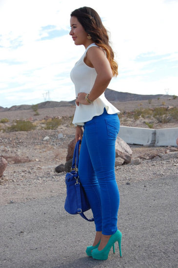 Peplum &amp; Cobalt 
