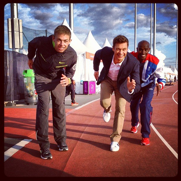 Ryan Seacrest put up a good fight on the track.Source: Instagram user ryanseacrest