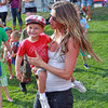 Pregnant Gisele Bundchen Pictures Kissing Tom Brady at New England Patriots Training Session