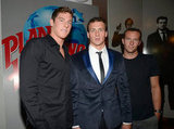 Ryan Lochte posed with friends at his 28th birthday bash in London.