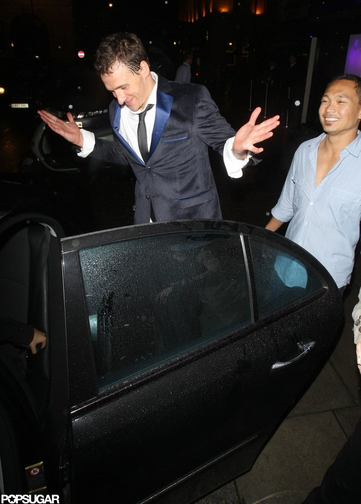Ryan Lochte threw up his hands leaving a club.