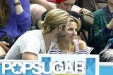 Chris Hemsworth kissed Elsa Pataky.