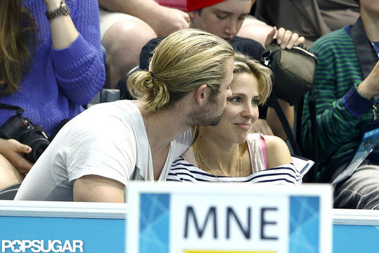 Chris Hemsworth kissed Elsa Pataky.