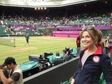 Savannah Guthrie caught a tennis match at Wimbledon. Source: Twitter user SavannahGuthrie